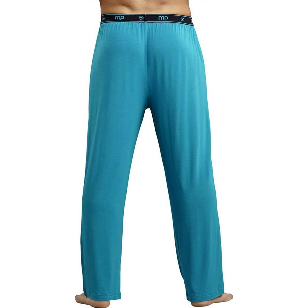 Male Power Bamboo Lounge Pant Medium Teal - View #2