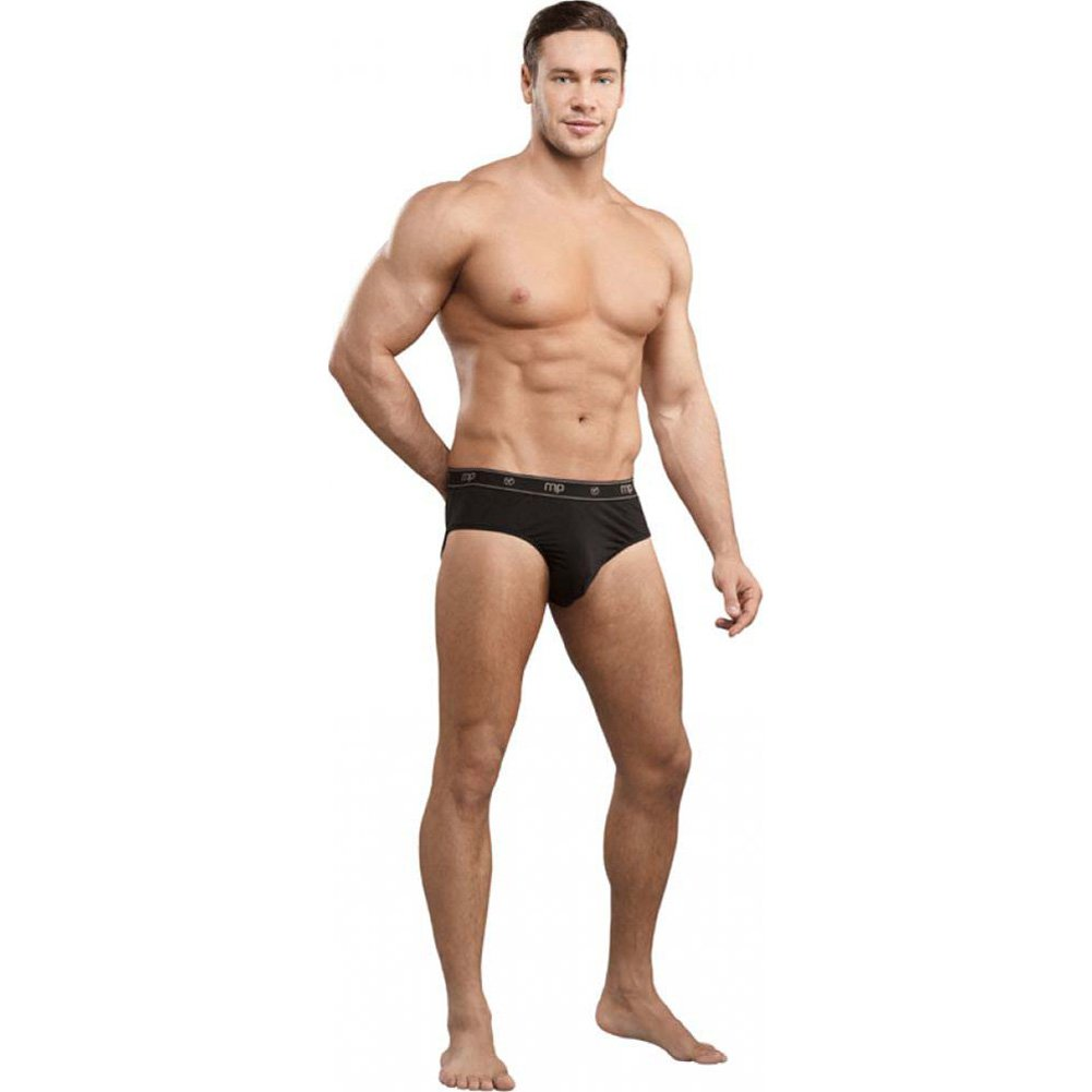 Male Power Bamboo Thruster Bikin Briefs Large Black - View #3