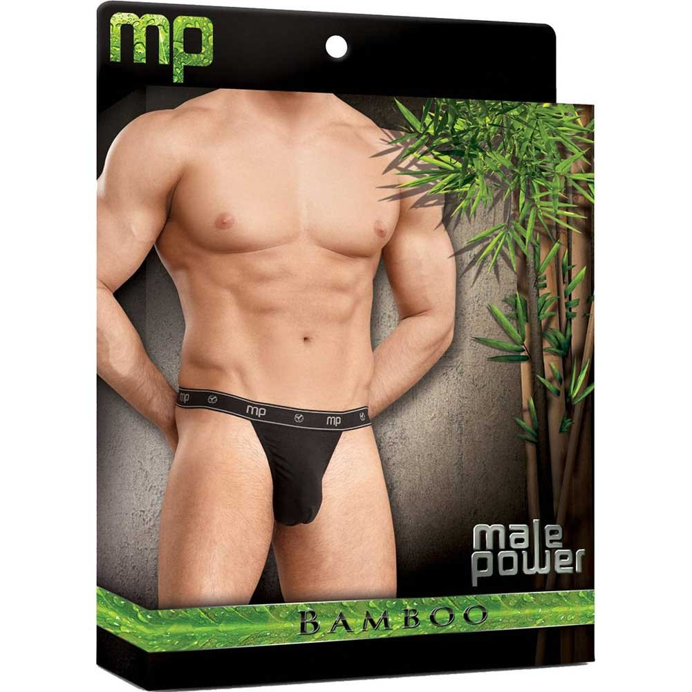 Male Power Bamboo Micro Thong Black Medium - View #3