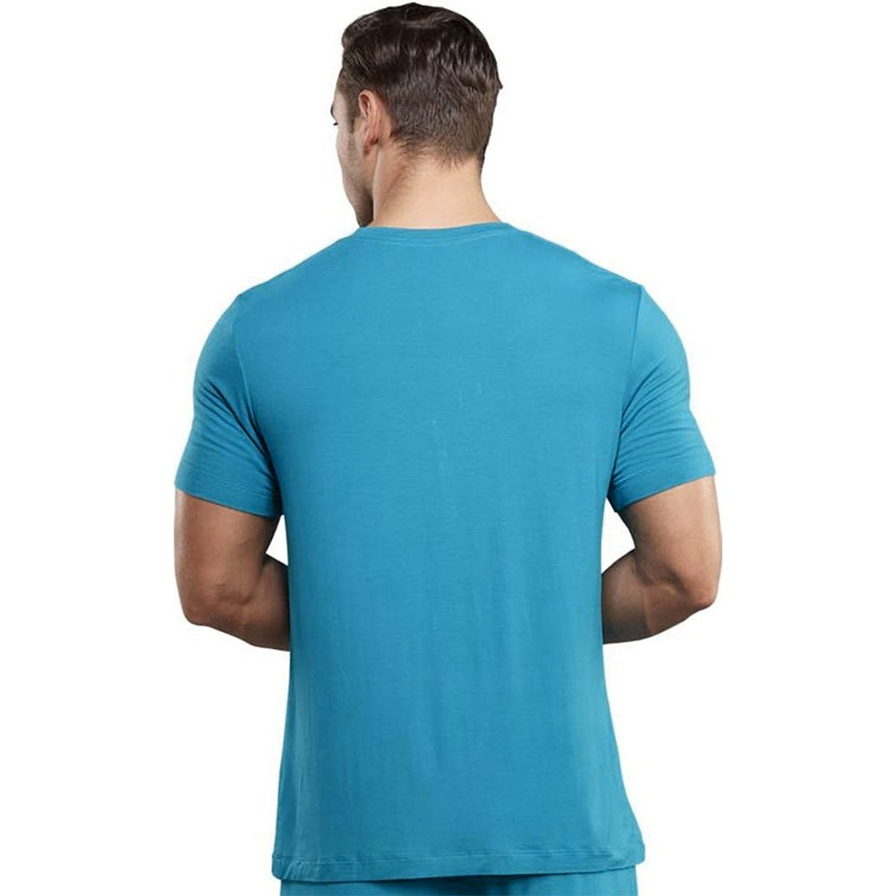 Male Power Premiere Bamboo Tee Shirt Small Teal - View #2