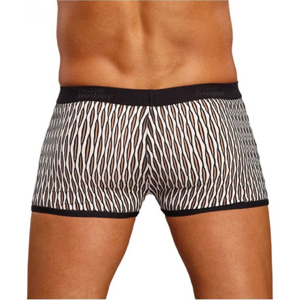 Male Power Wave Mini Pouch Short Medium White and Black - View #2