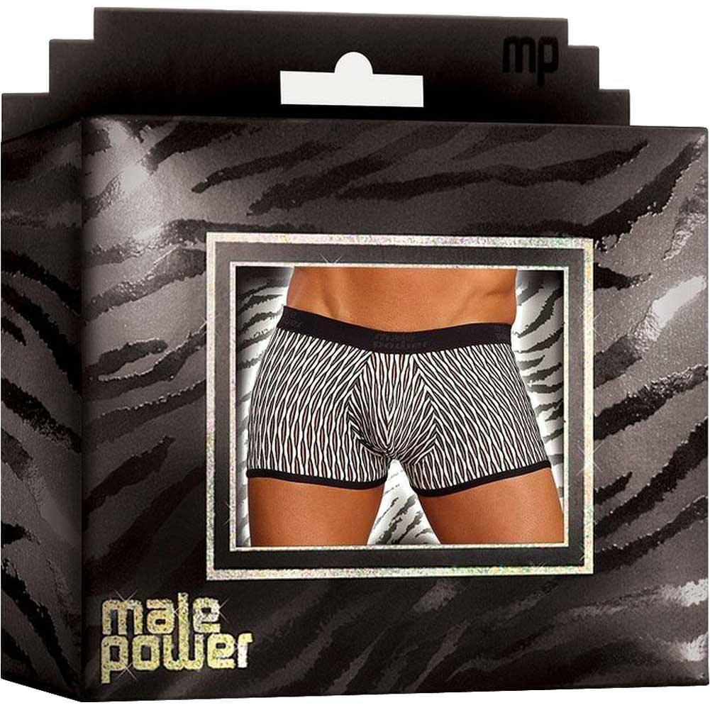 Male Power Wave Mini Pouch Short Medium White and Black - View #4