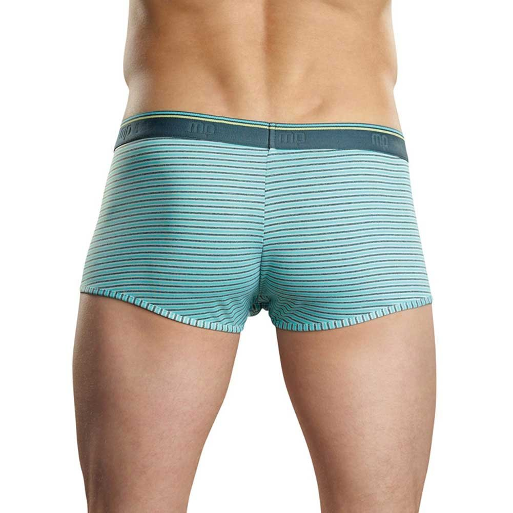 Male Power Heather Stripe Pouch Enhancer Shorts Medium Mint/Grey - View #2