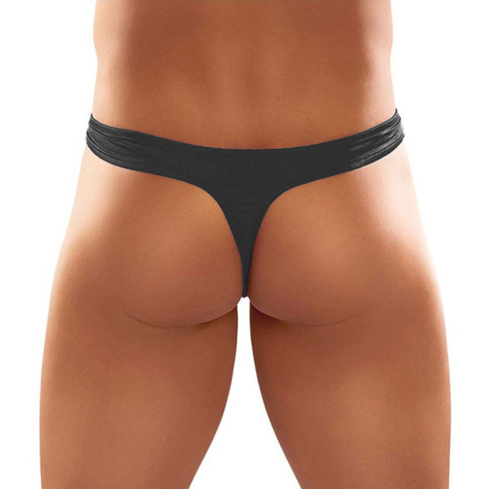 Bong Thong Satin Lycra Black Small Medium - View #2