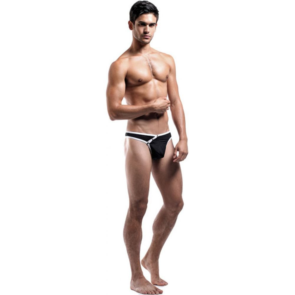 Male Power Fly Away Breathable Snap Thong Small/Medium Black - View #3