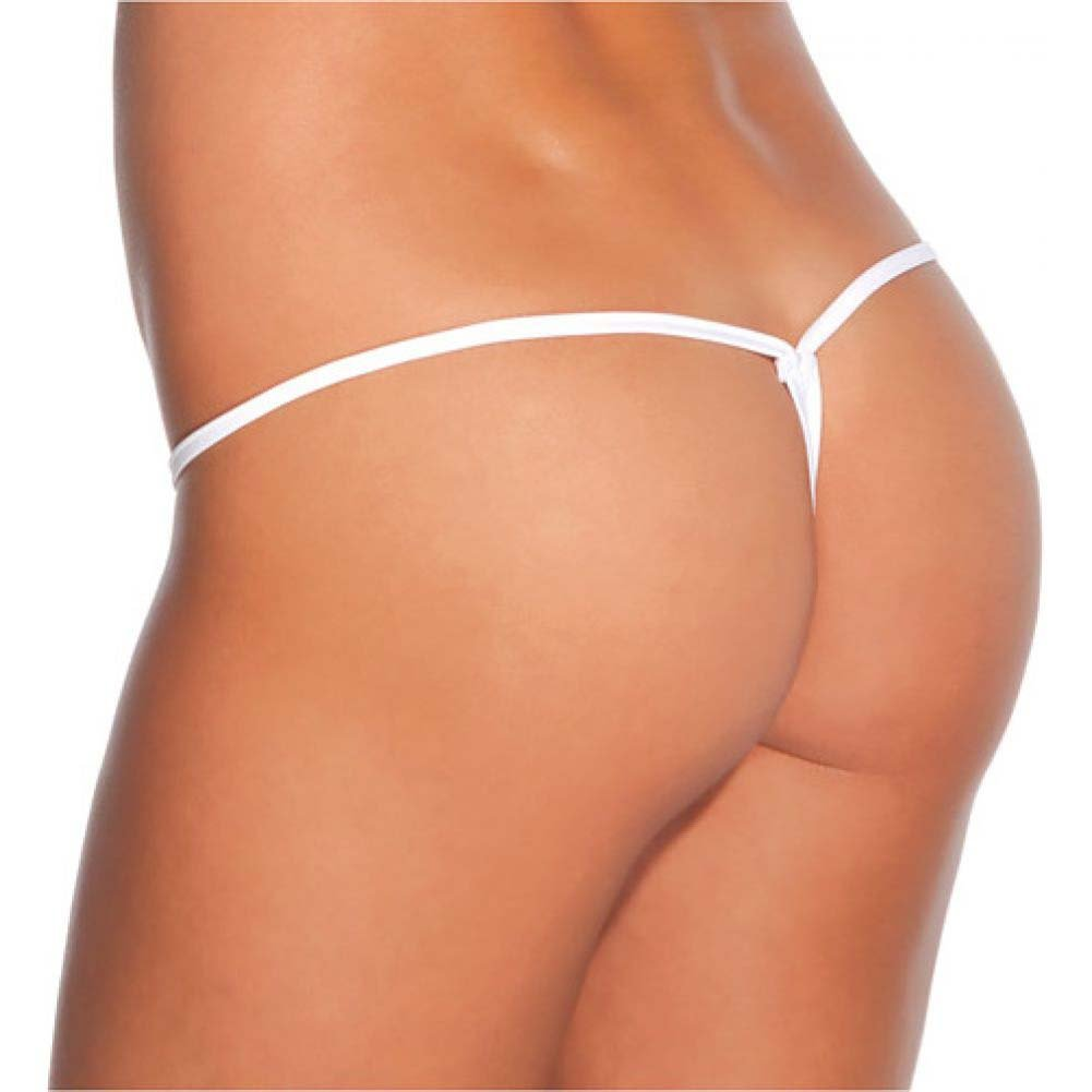 Coquette Lingerie Classic Low Rise Lycra G-String Extra Large White - View #2