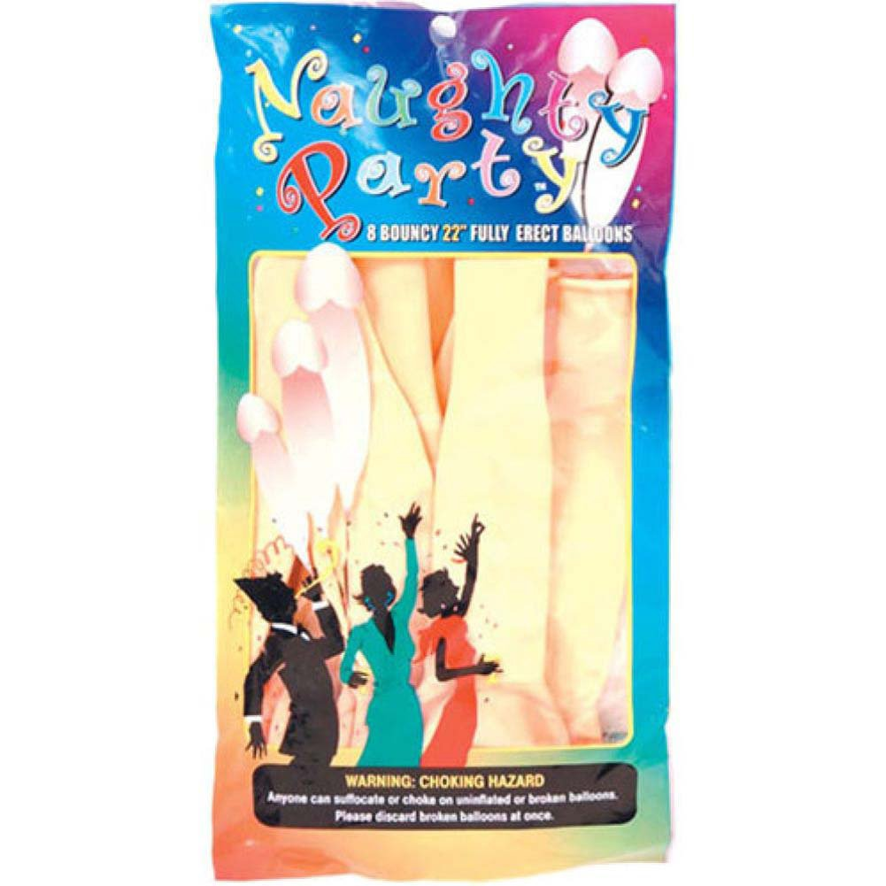 "Golden Triangle 22"" Naughty Party Penis Balloons Flesh Pack of 8 - View #1"