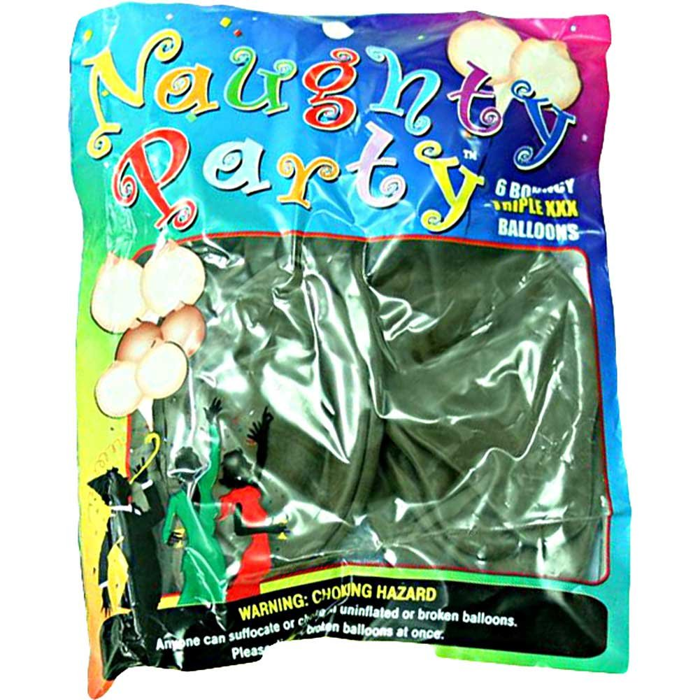 Golden Triangle Naughty Party Boobie Balloons Brown Pack of 6 - View #1