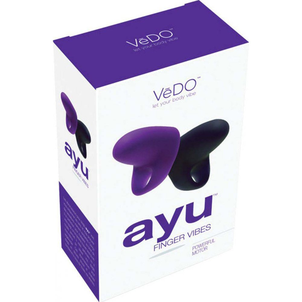 Vedo Ayu Mini Finger Vibe Pain Black and Into You Indigo - View #4