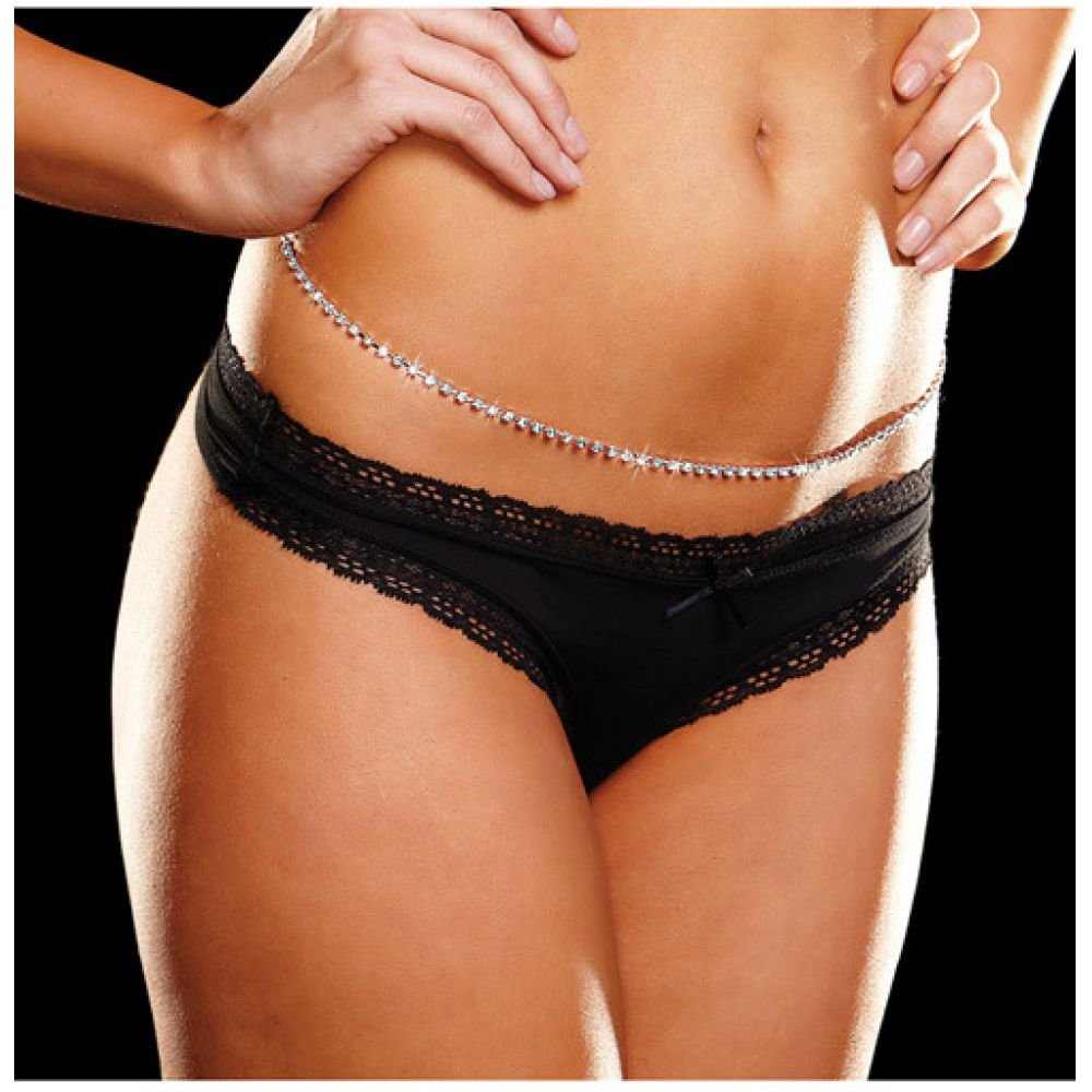 "Ann Devine Rhinestone 39"" Belly Chain - View #1"