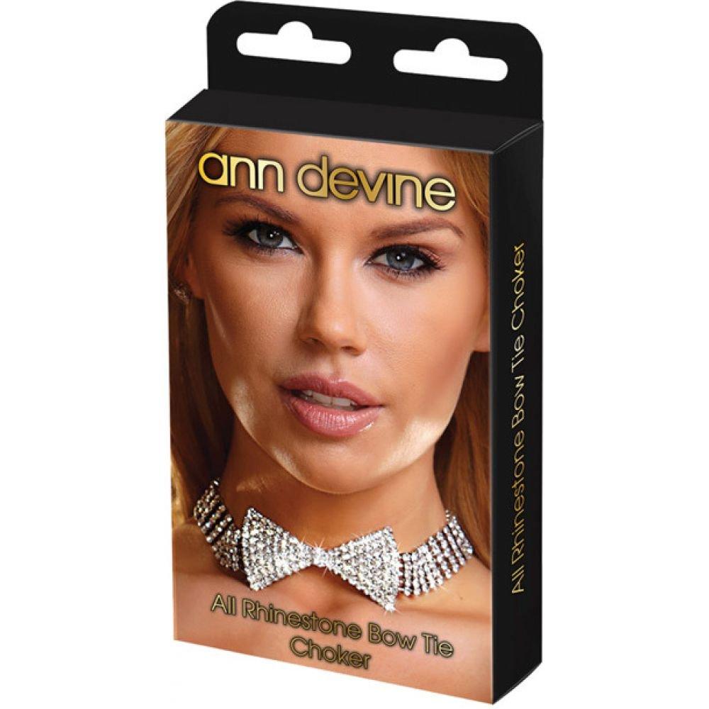 Ann Devine Rhinestone Bow Tie and Choker - View #2