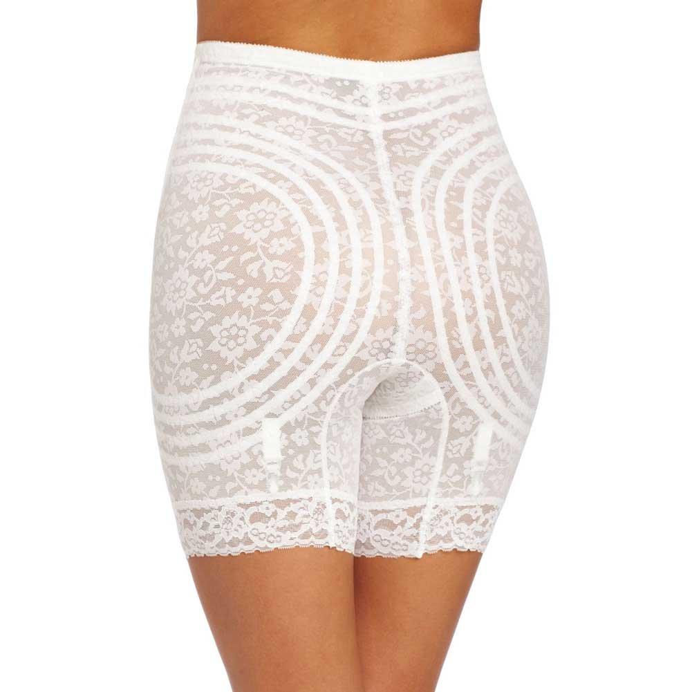 Rago Shapewear High Waist Long Leg Shaper White Large - View #2