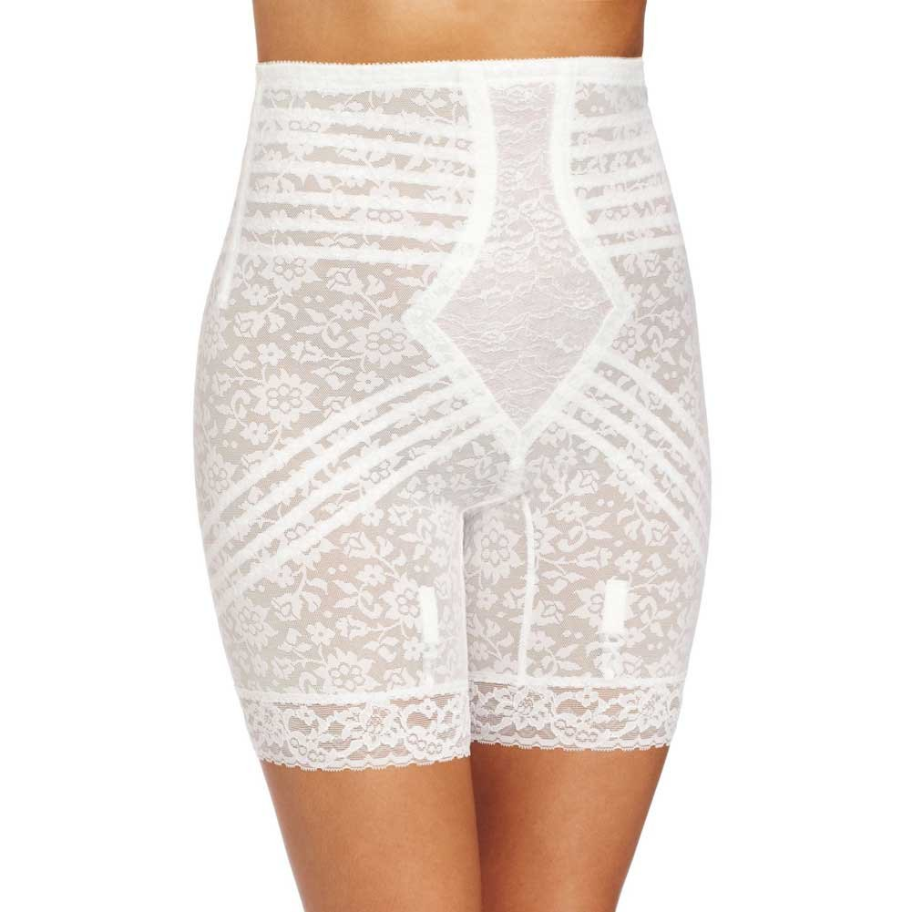 Rago Shapewear High Waist Long Leg Shaper White Extra Large - View #1