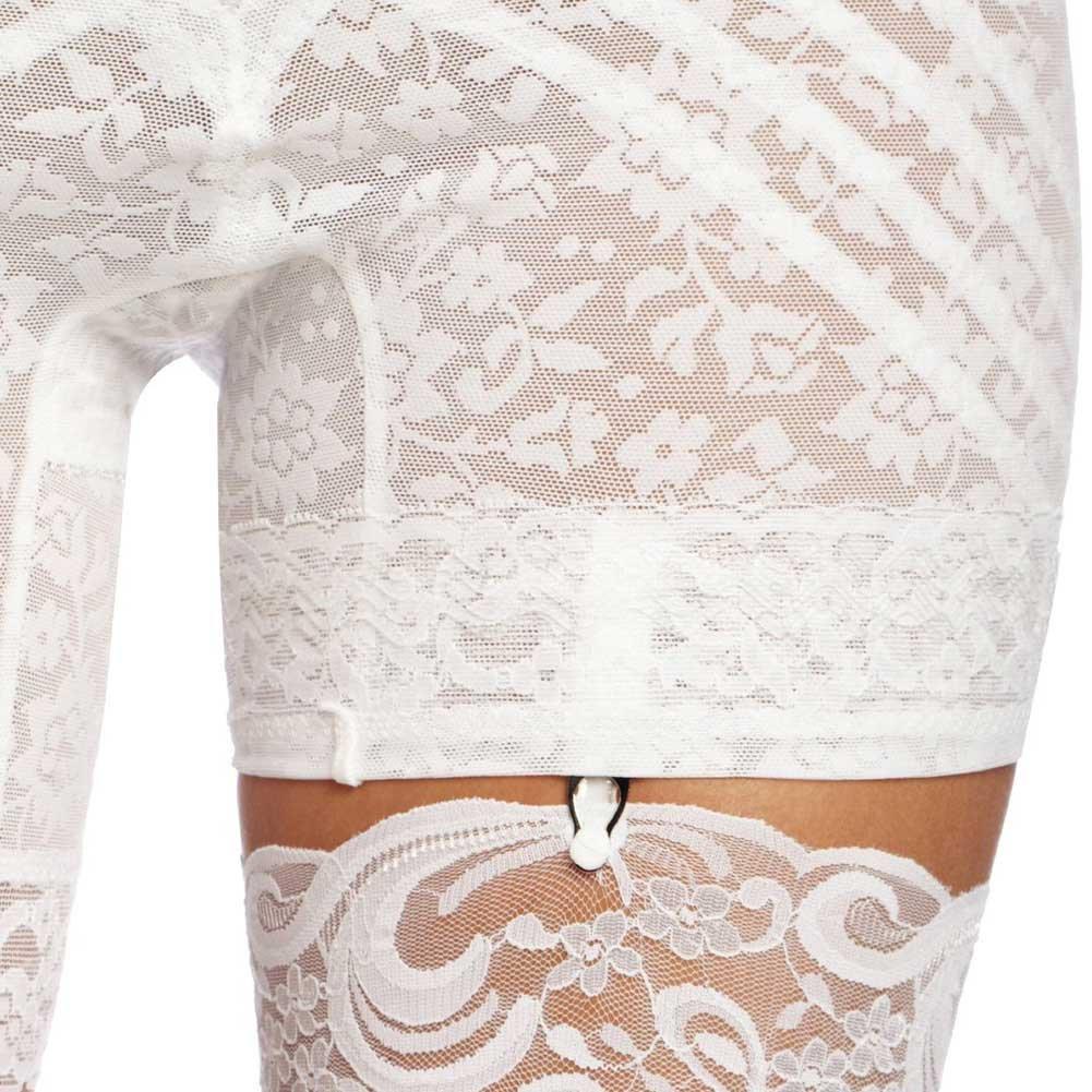 Rago Shapewear High Waist Long Leg Shaper White Extra Large - View #3