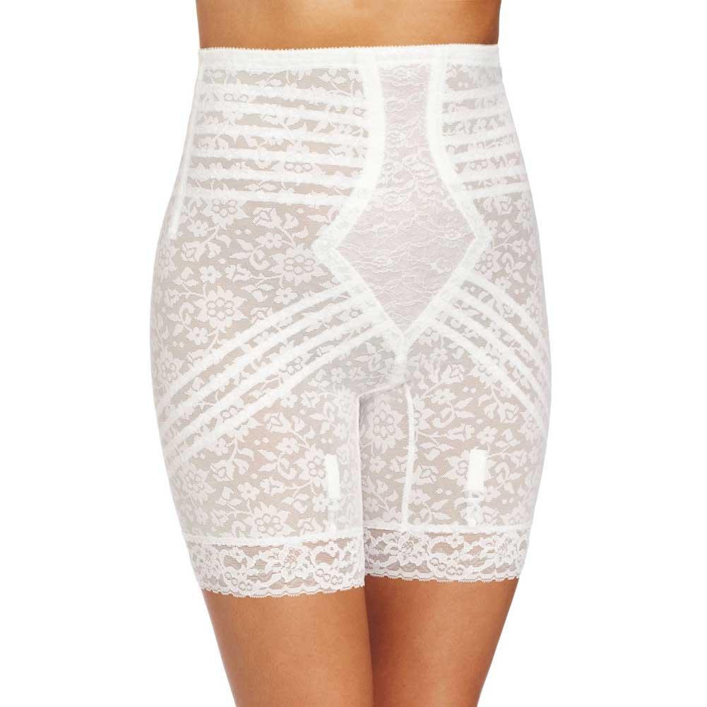 Rago Shapewear High Waist Long Leg Shaper White 3X - View #1