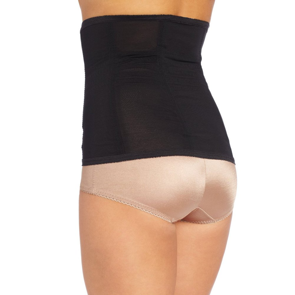 Rago Shapewear High Waisted Waist Cincher Black Large - View #2