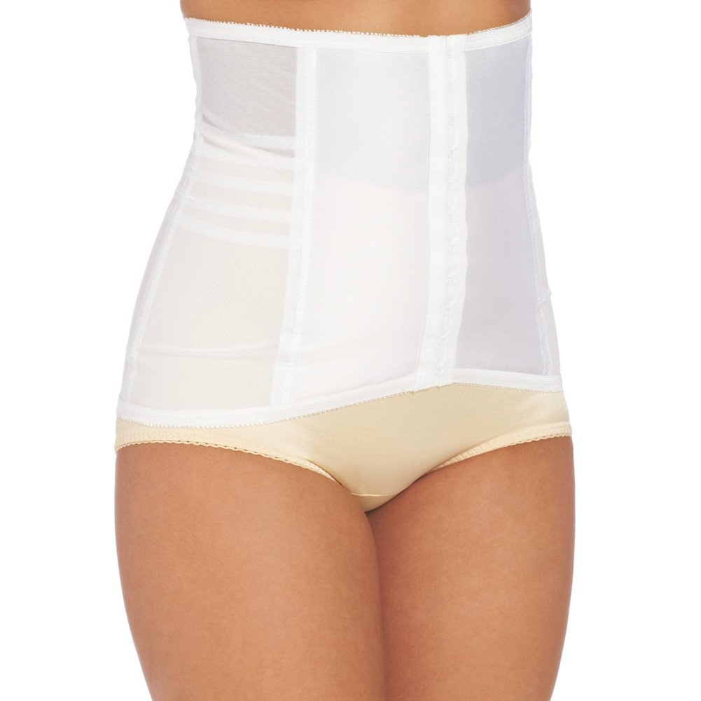 Rago Shapewear High Waisted Waist Cincher White Large - View #1