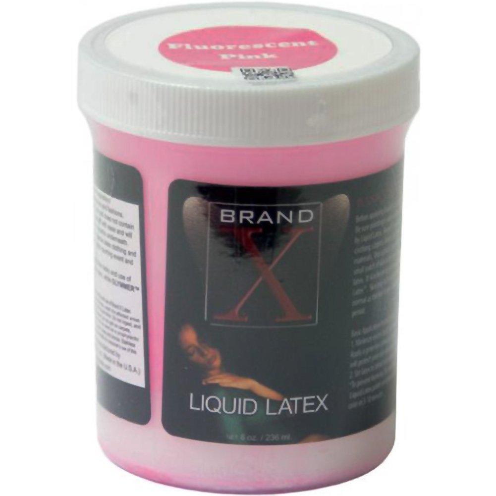 Brand X Liquid Latex Body Paint Fluorescent Pink 8 Fl.Oz - View #1