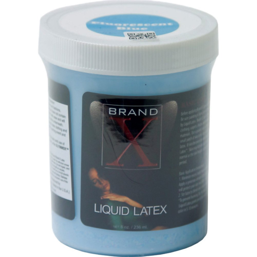 Brand X Liquid Latex Body Paint Fluorescent Blue 8 Fl.Oz - View #1
