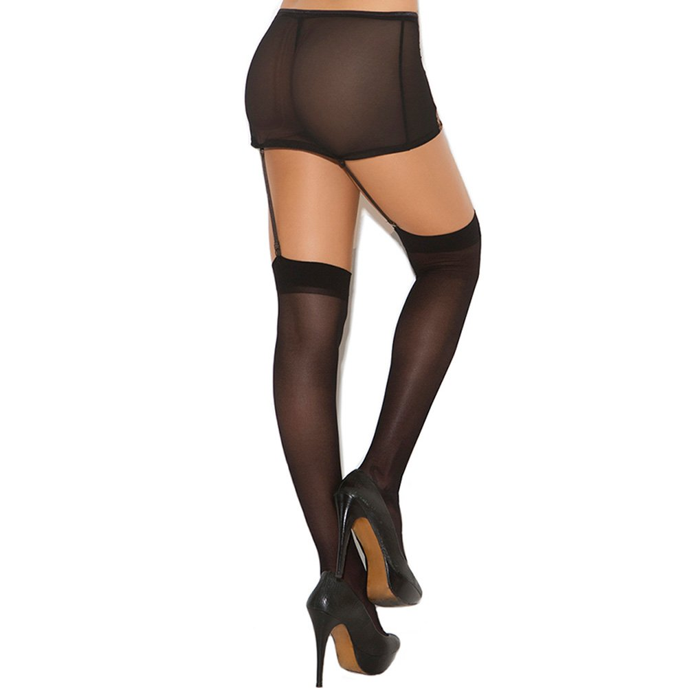 Elegant Moments Sheer Thigh Highs One Size Black - View #2