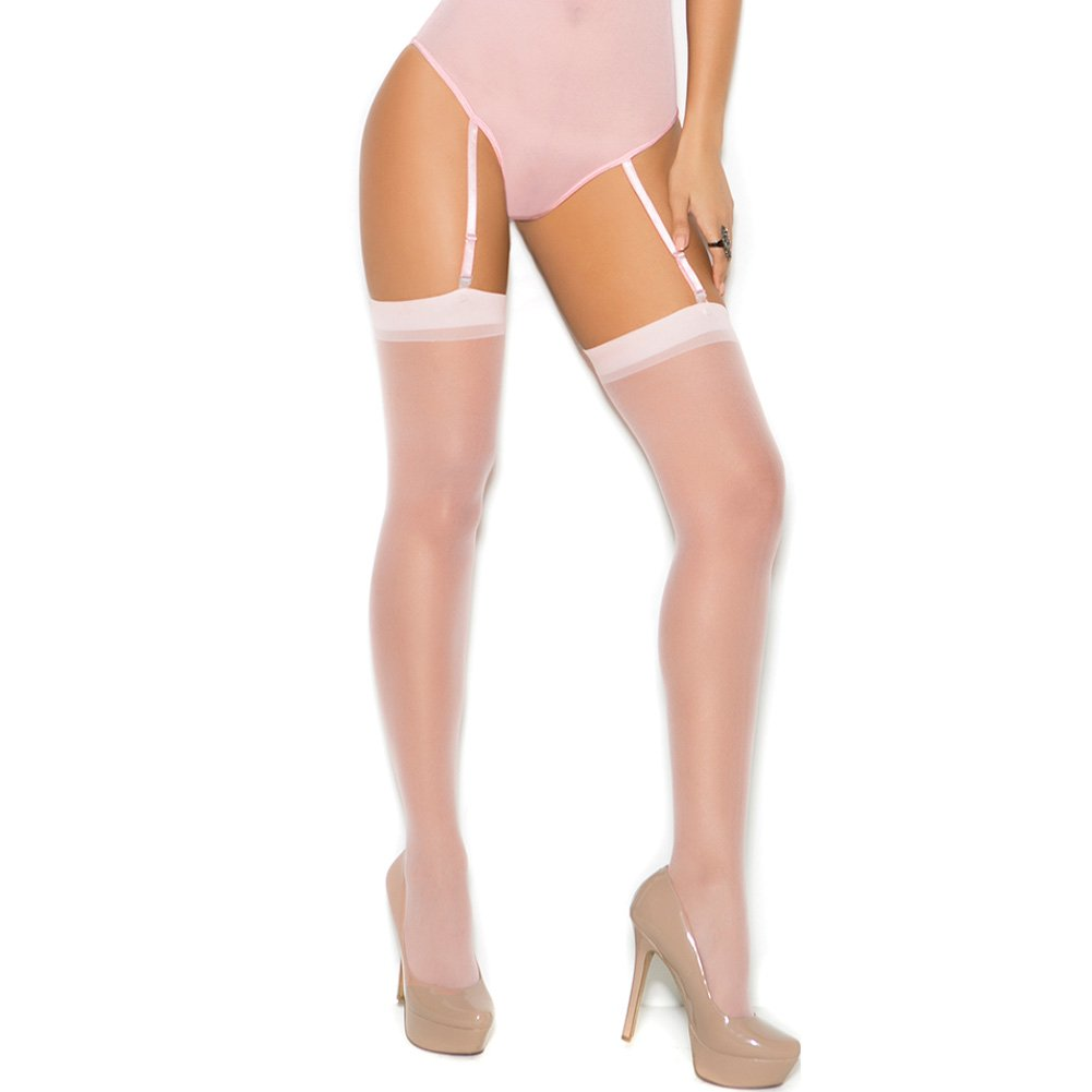 Sheer Thigh High White Queen Size - View #1