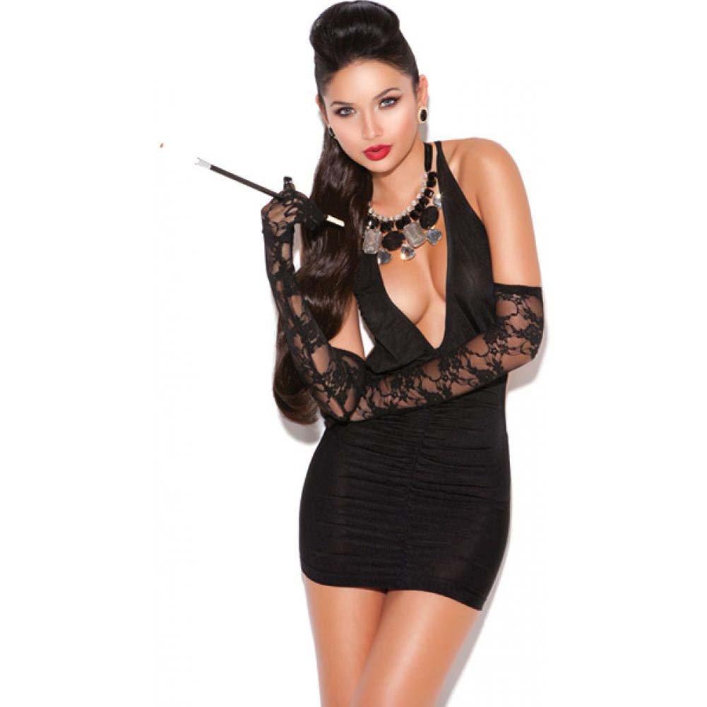 Vivace Deep V Mini Dress Black One Size - View #1