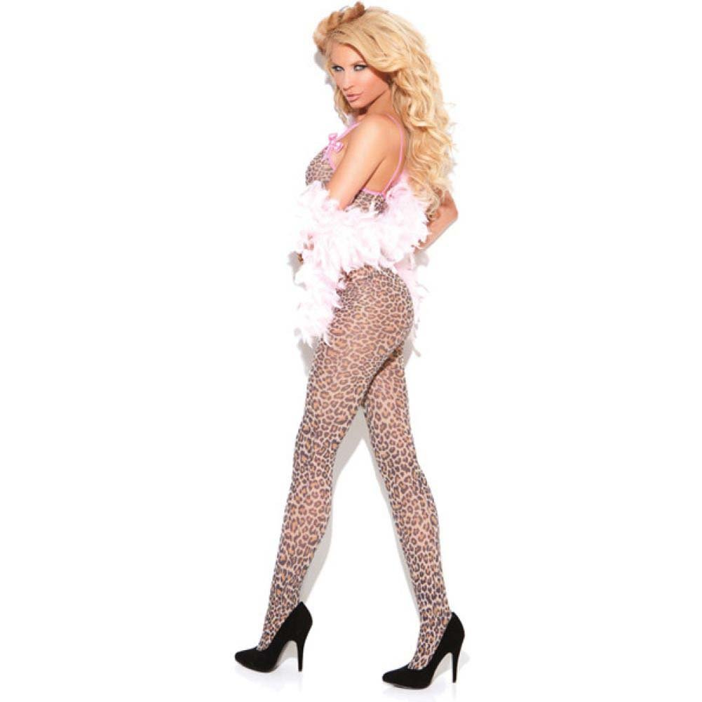 Vivace Bodystocking with Satin Bows Leopard One Size - View #2