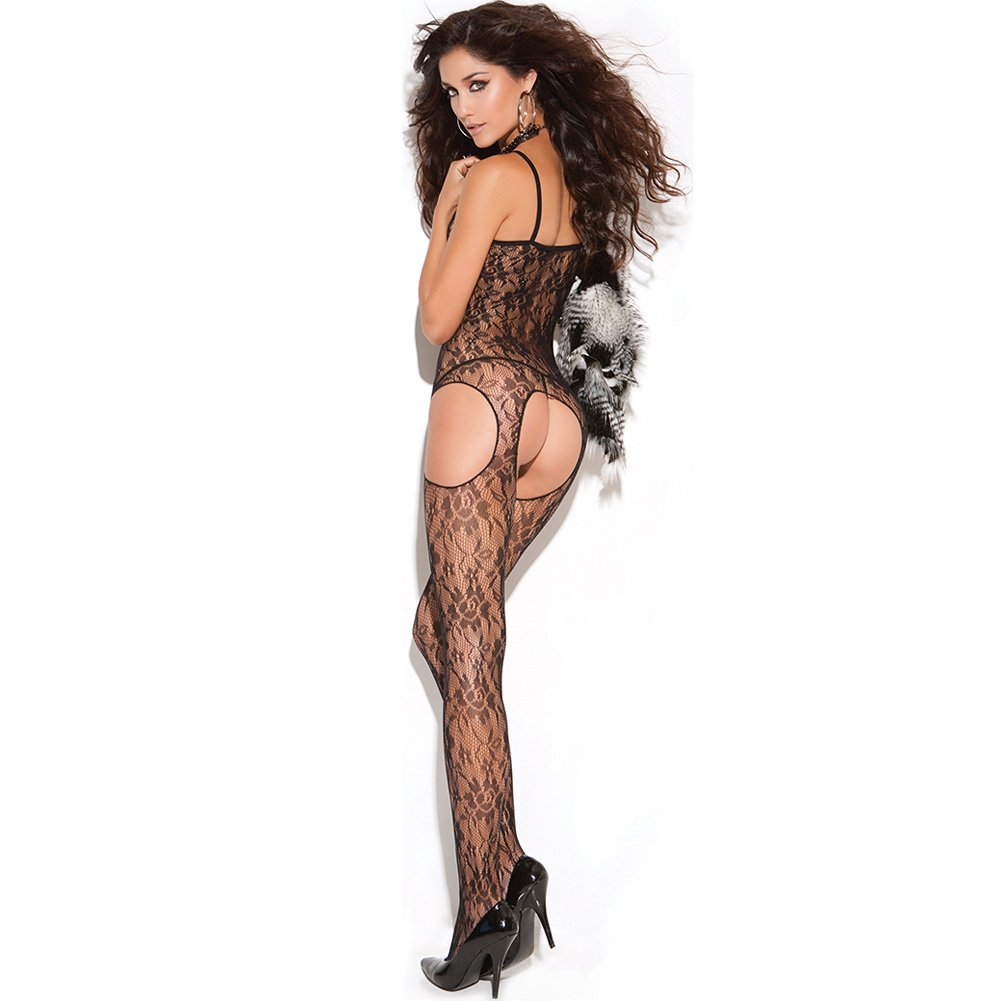 Vivace Lace Suspender Bodystocking Black One Size - View #1