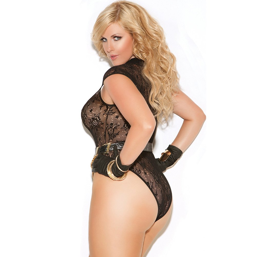 Vivace Lace Teddy Black Queen - View #2