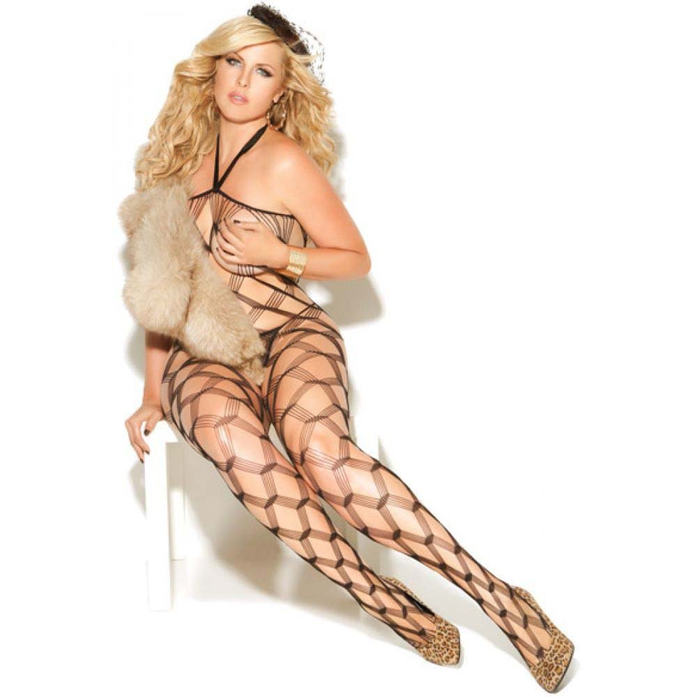 Vivace Diamond Net Bodystocking Black Queen - View #2