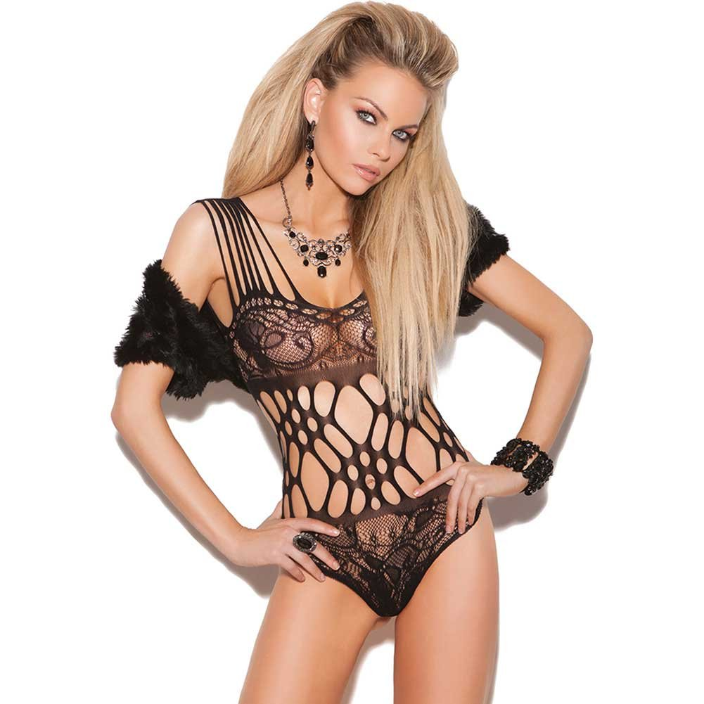 Vivace Lace Teddy with Cutout Detail Black One Size - View #1