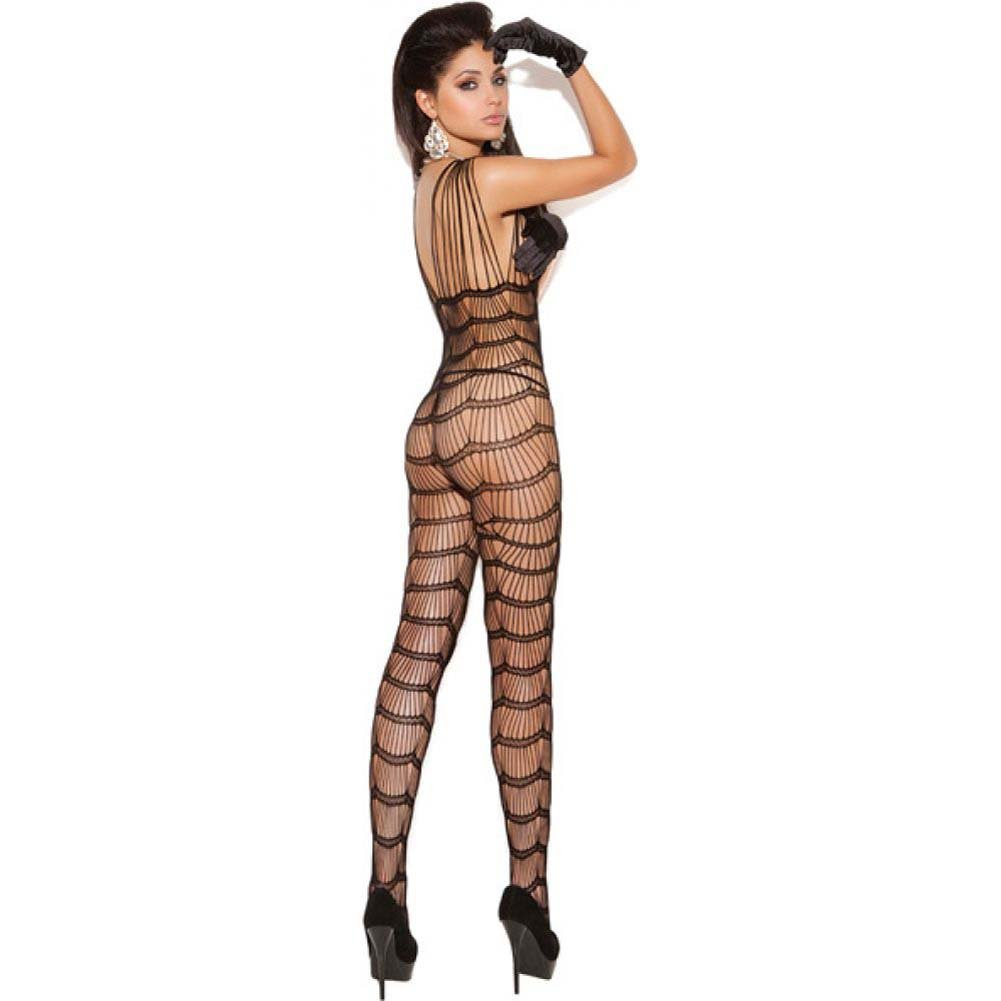 Vivace Vertical Striped Bodystocking Black One Size - View #2