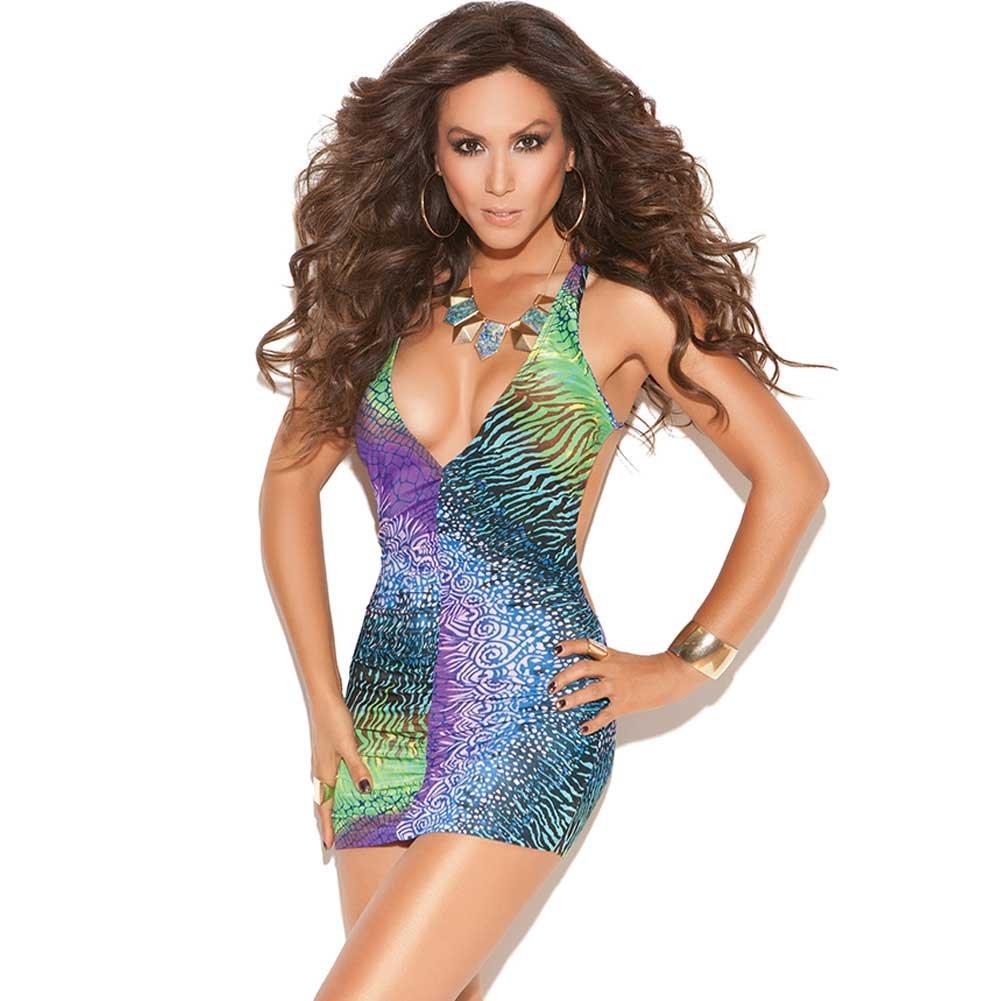 Vivace Deep V Mini Dress Multi Color One Size - View #1
