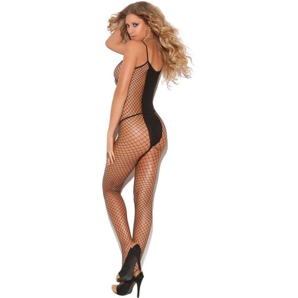 Vivace Diamond Net and Opaque Bodystocking Black One Size - View #2