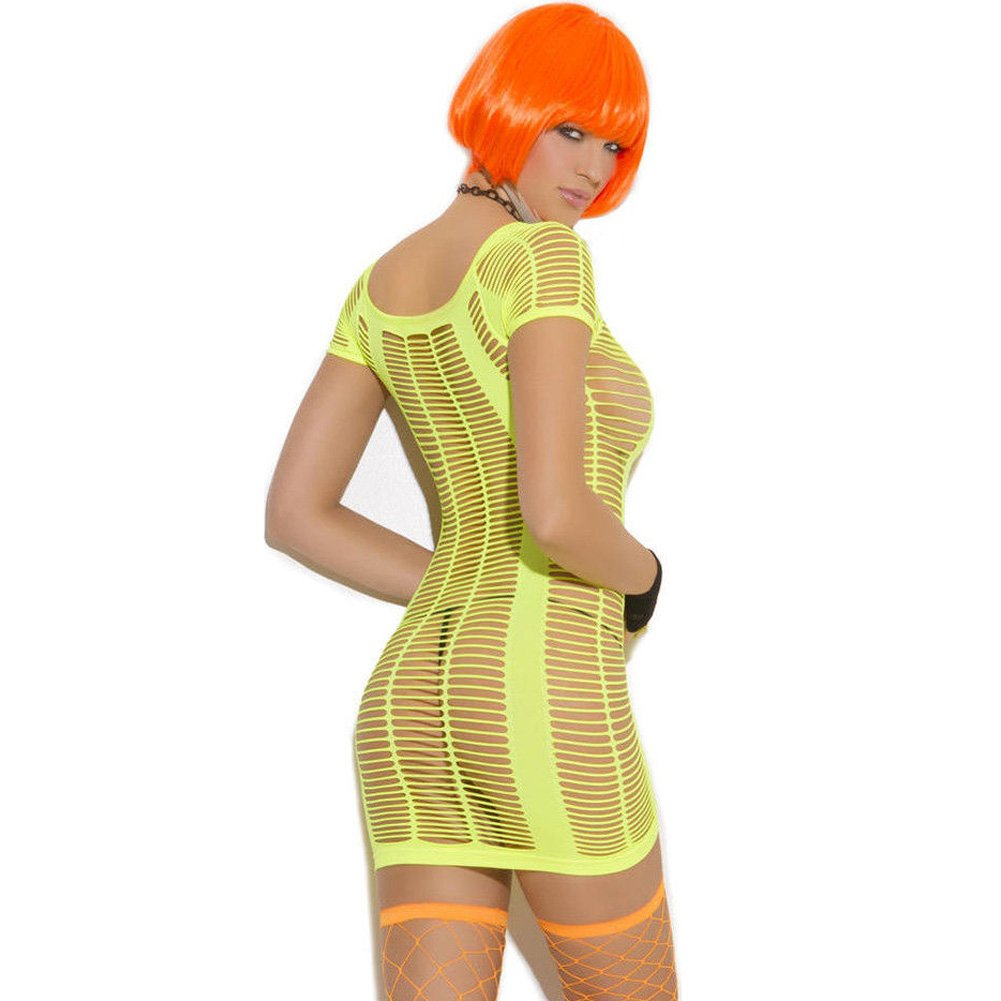 Vivace Strappy Mini Dress Chartreuse Light Green One Size - View #2