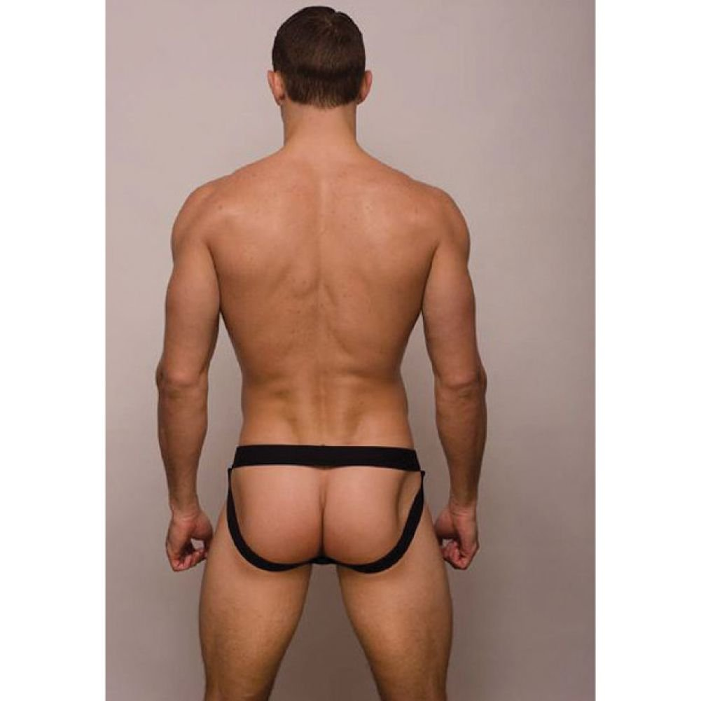 Pride Metro Drop Jock Strap Black Large - View #2