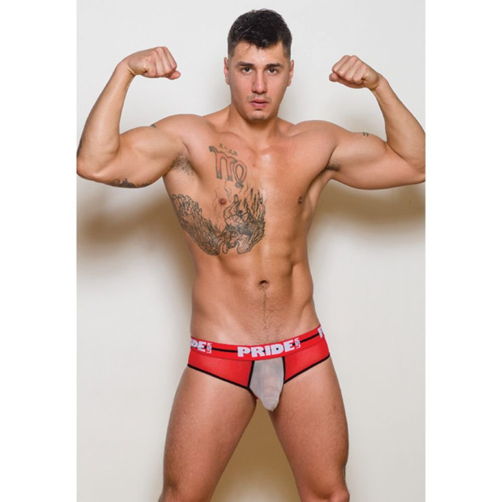 Pride Maui Mesh Brief Red Medium - View #2