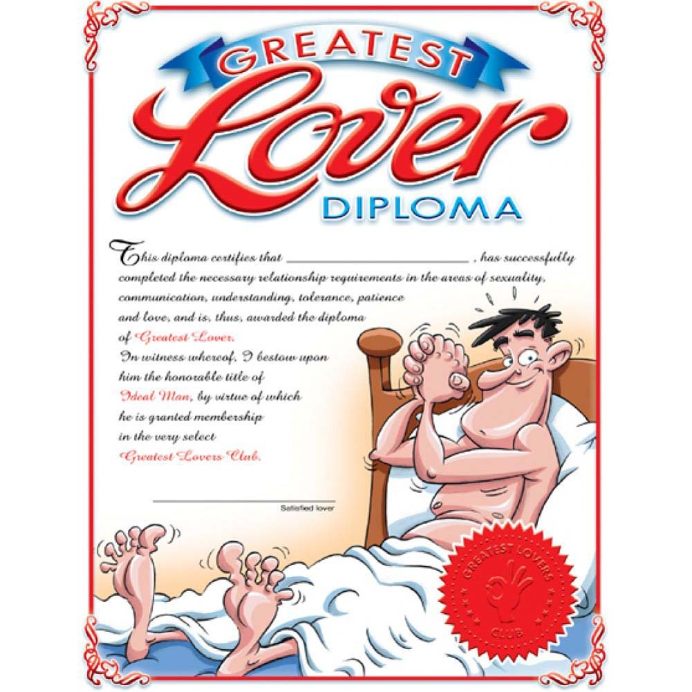 Greatest Lover Diploma Male - View #2
