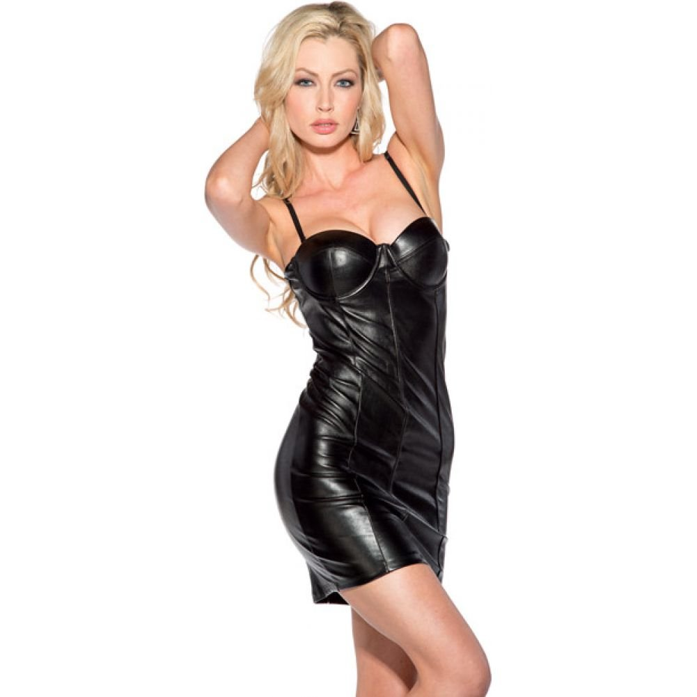 Spaghetti Strap with Molded Cups Dress Black 2X - View #1