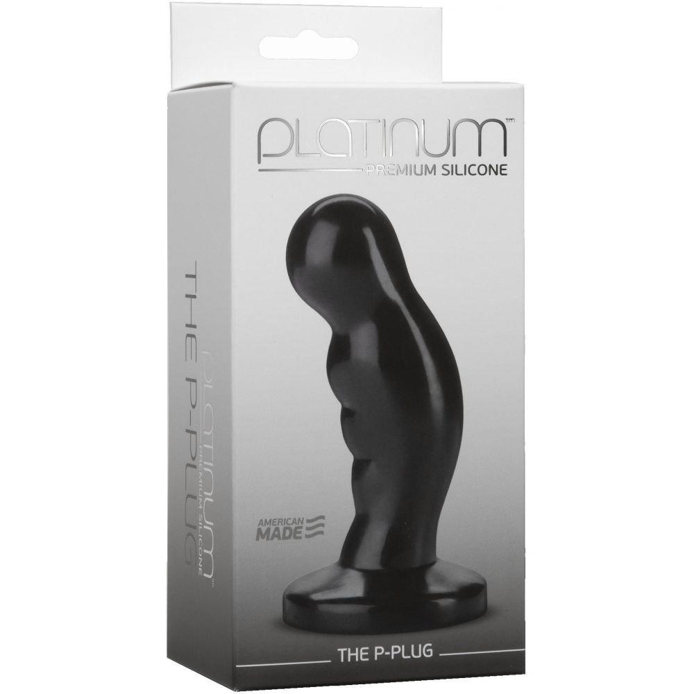 """Platinum Premium Silicone Prostate Plug 5"""" Black - View #2"""