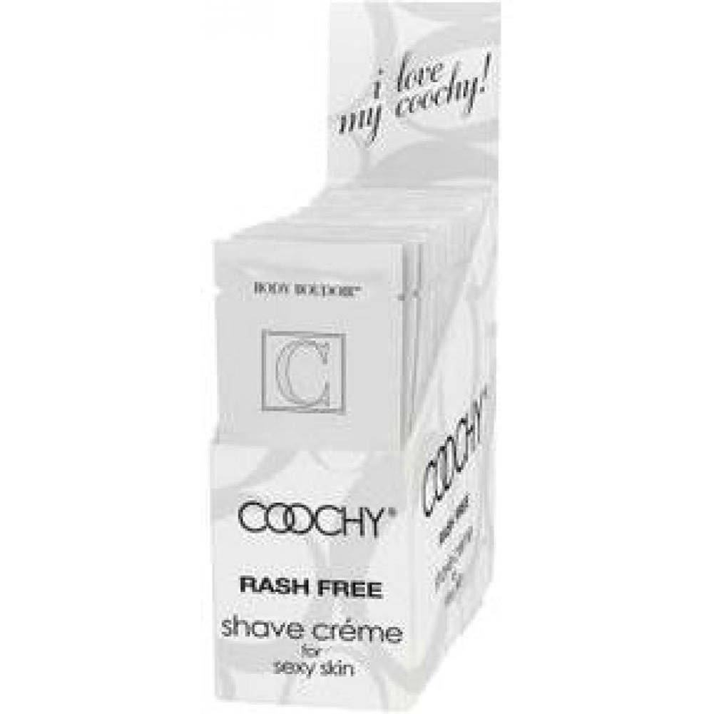 Coochy Rash Free Shave Creme Counter Display of 24 Count 15 Ml Each Foils Loves Me Loves Me Not - View #1