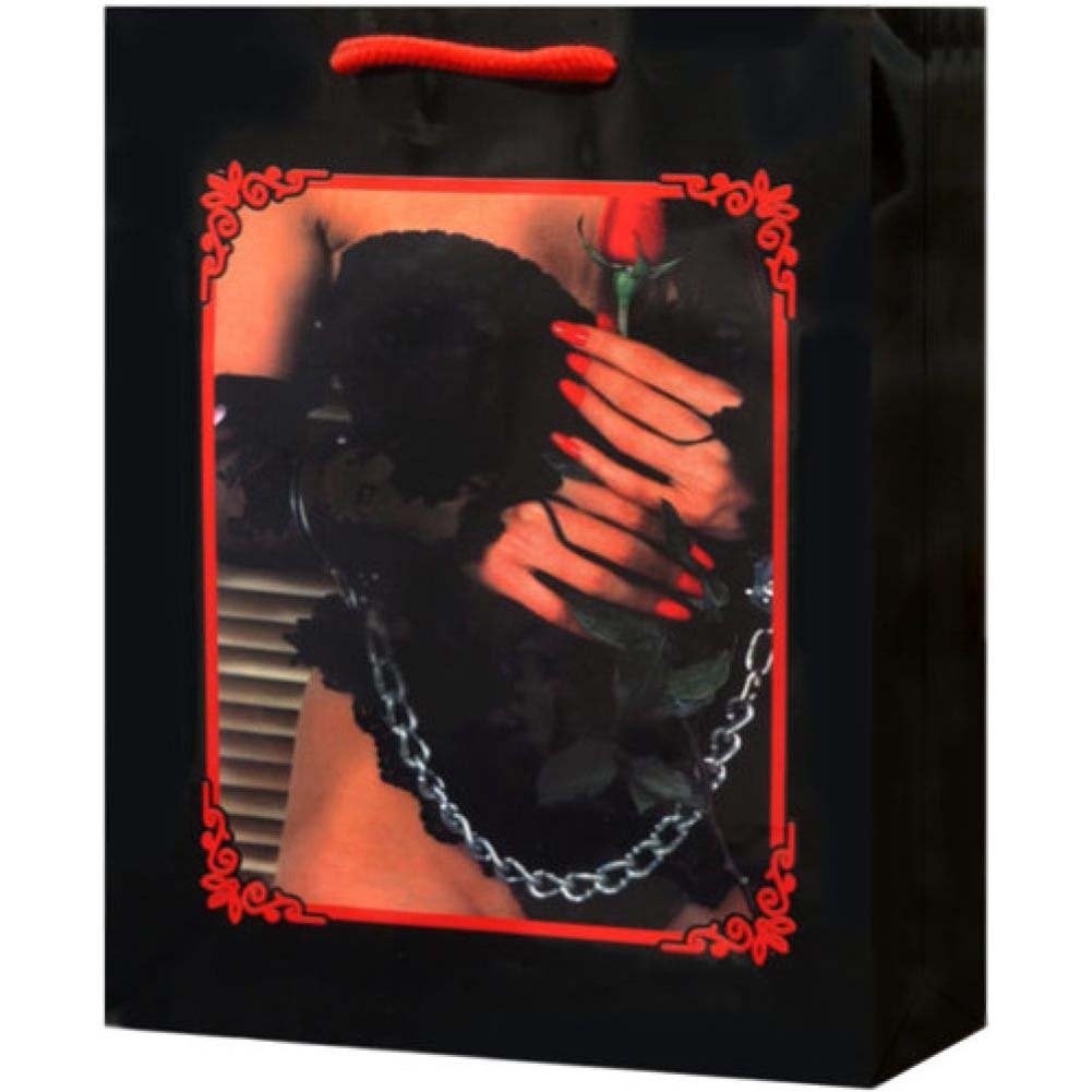 Lady Lace Lingerie with Rose and Handcuffs Gift Bag - View #2