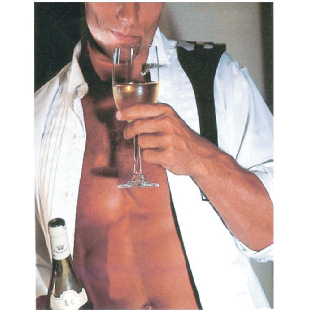 Man in Unbuttoned Tux Drinking Champagne Gift Bag - View #1