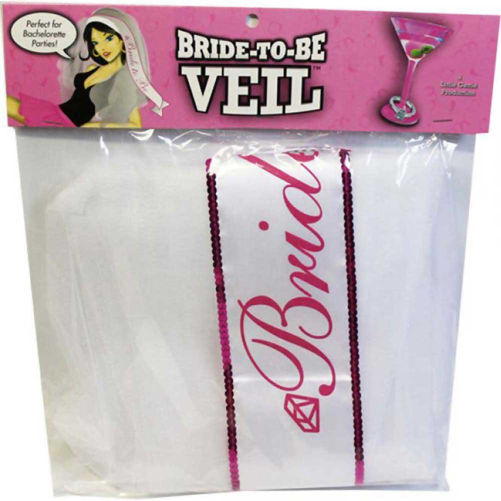 Miss Bachelorette Veil White - View #1