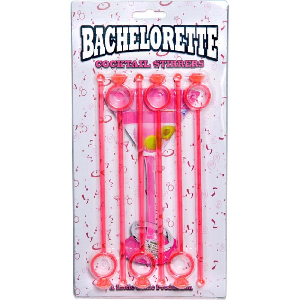 Bachelorette Cocktail Stirrers 6 Piece Pack - View #1