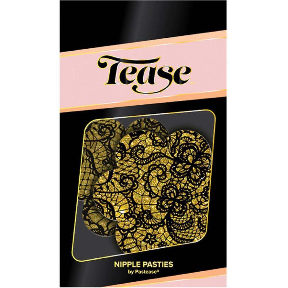 Tease Gold Lace Print Flower One Size - View #2