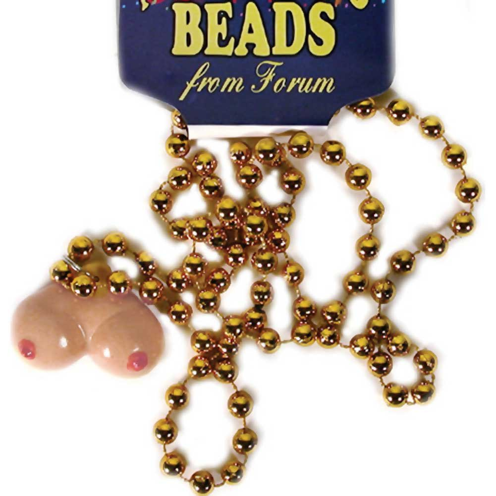 Forum Novelties Mardi Gras Necklace with Boob Beads - View #2