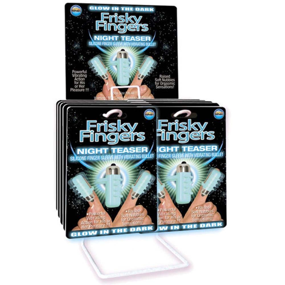Hott Products Frisky Finger Night Teaser Vibrator 12 Piece Display - View #1