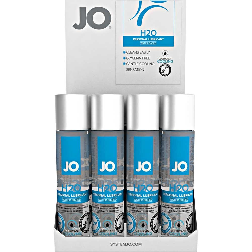 System JO H2O Cool Intimate Lubricant 1 Fl.Oz 30 mL Bottles 12 Piece Display - View #2