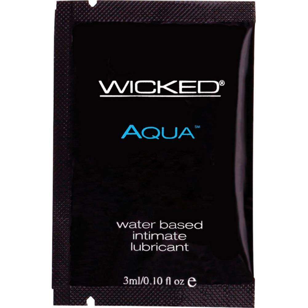 Wicked Aqua Lubricant Packette 24 Piece Display - View #1